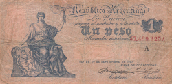 Image #1 of 1 Peso ND (1908-1925)