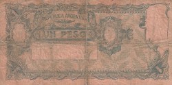 Image #2 of 1 Peso ND (1908-1925)