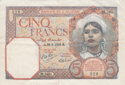 Image #1 of 5 Francs 1941 (19. IX.)