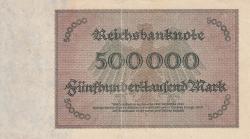 Image #2 of 500 000 Mark 1923 (1. V.) - 7 digit serial