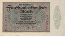 Image #1 of 500 000 Mark 1923 (1. V.) - 8 digit serial