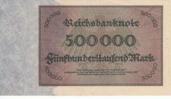 Image #2 of 500 000 Mark 1923 (1. V.) - 8 digit serial