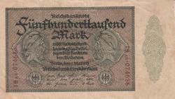 Image #1 of 500 000 Mark 1923 (1. V.) - 6 digit serial