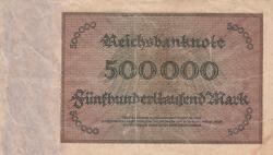 Image #2 of 500 000 Mark 1923 (1. V.) - 6 digit serial