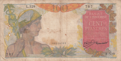 100 Piastres ND (1947-1949)