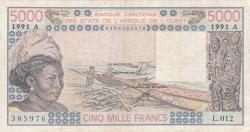 Image #1 of 5000 Francs 1991