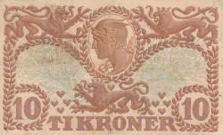 Imaginea #2 a 10 Coroane 1943 - Serie U (semnături Svendsen / Pugh)