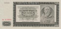 Imaginea #1 a 1000 Korun 1942 (24. X.)