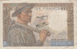 10 Francs 1942 (26. XI.)