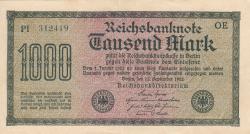 Image #1 of 1000 Mark 1922 (15. IX.) - 2