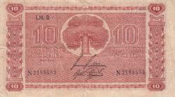 Imaginea #1 a 10 Markkaa 1945 (1948) - semnături Raittinen / Aspelund