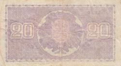 Imaginea #2 a 20 Markkaa 1939 (1939-1945) - semnături Ryti / Alsiala