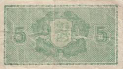 Imaginea #2 a 5 Markkaa 1939 (1942-1945) - semnături Jultila / Alsiala