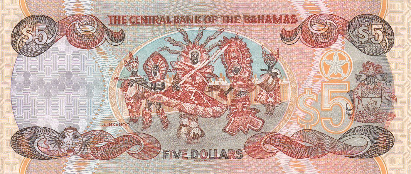 P-68 UNC/>QEII Bahamas 1//2 0.5 Dollar 50 Cents 2001 Lot 5 PCS