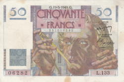 Image #1 of 50 Francs 1949 (19. V.)