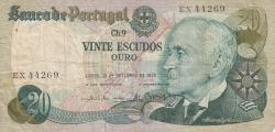 Image #1 of 20 Escudos 1978 (13. IX.) - signatures Emílio Rui da Veiga Peixoto Vilar / António José Nunes Loureiro Borges