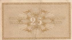 Imaginea #2 a 25 Pennia 1918 - semnături Järnefelt / Hisinger-Jägerskiöld