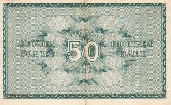 Imaginea #2 a 50 Pennia 1918 - semnături Basilier / Hisinger-Jägerskiöld