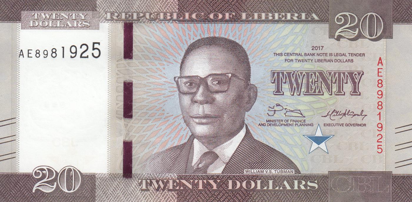 2017 Prefix AA LIBERIA 5  DOLLARS  2016 P NEW   Uncirculated Banknotes