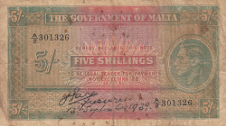 Image #1 of 5 Shillings 1939 (13. IX.)