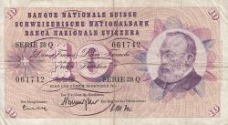 Image #1 of 10 Franken 1961 (26. X.) - signatures Otto Kunz / Dr. Brenno Galli / Max Ikle