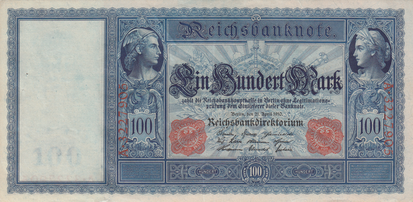 100 mark 1910 21 iv 1910 issue germany banknote 2154