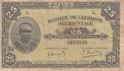 Image #1 of 25 Francs 1942 (14. XII.)
