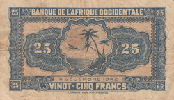 Image #2 of 25 Francs 1942 (14. XII.)