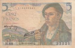 Image #1 of 5 Francs 1943 (25. XI.)