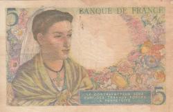 Image #2 of 5 Francs 1943 (25. XI.)