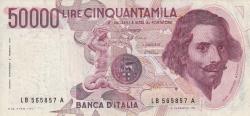 Image #1 of 50 000 Lire 1984 (6. II.) - Signatures Carlo Azeglio Ciampi/ Vittorio Stevani