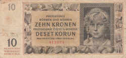 Imaginea #1 a 10 Korun 1942 (8. VII.)
