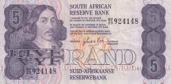 Imaginea #1 a 5 Rand ND (1981-1989) - semnătură G. P. C. de Kock