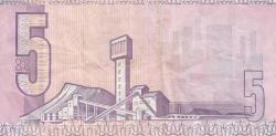 Imaginea #2 a 5 Rand ND (1981-1989) - semnătură G. P. C. de Kock