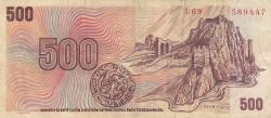 Imaginea #2 a 500 Korun ND (1993 pe emisunea 1973)