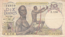 Image #1 of 10 Francs 1954 (28. X.)