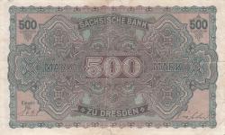 500 Mark 1922 (1. VII.) - Ser. VII.