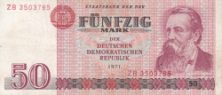 Imaginea #1 a 50 Mark 1971 - bancnotă de înlocuire