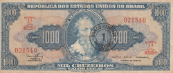 Image #1 of 1 Cruzeiro Novo on 1000 Cruzeiros ND (1967)