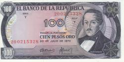 Imaginea #1 a 100 Pesos Oro 1973 (20. VII.)