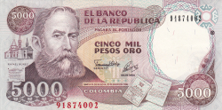 Imaginea #1 a 5000 Pesos Oro 1992 (31. I.)