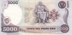 Imaginea #2 a 5000 Pesos Oro 1992 (31. I.)