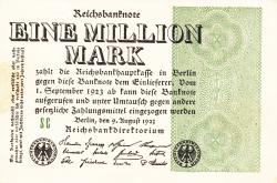 Image #1 of 1 Million (1 000 000) Mark 1923 (9. VIII.)