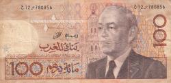 Imaginea #1 a 100 Dirhams 1987 (AH1407) (ca. 1991)