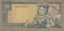 Image #2 of 50 Rupiah 1960