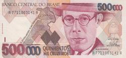 Imaginea #1 a 500 000 Cruzeiros ND (1993) - semnături Fernando Henrique Cardoso / Paulo Cesar Ximenes Alves Ferreira