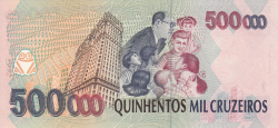 Imaginea #2 a 500 000 Cruzeiros ND (1993) - semnături Fernando Henrique Cardoso / Paulo Cesar Ximenes Alves Ferreira