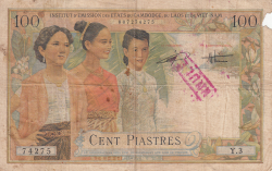 Imaginea #2 a 100 Piastres = 100 Dong ND (1954)