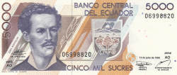 Imaginea #1 a 5000 Sucres 1999 (12. VII.)