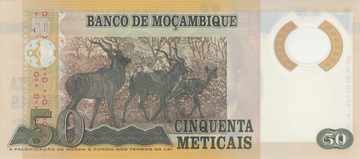 p150//Polymer UNC 2011 Mozambique 50 Meticais